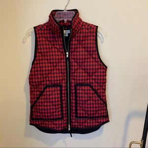 Buffalo Plaid Check JCrew Puffer Vest